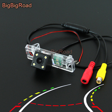BigBigRoad inteligentny dynamiczny utworów tworzenia kopii zapasowych kamera CCD dla peugeot 308 307 307cc 408 508 2008 3008 3008CC 5D Crossover