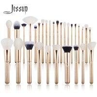 Jessup кисть набор кистей для макияжа 6 шт.-30 шт. Золотой/розовое золото Пудра основа тени для век CONCERLER Кисть для макияжа