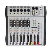 Freeboss MX 600 6CH Mono 6 kênh chất lượng tốt nóng bán USB âm thanh chuyên nghiệp DJ Mixer