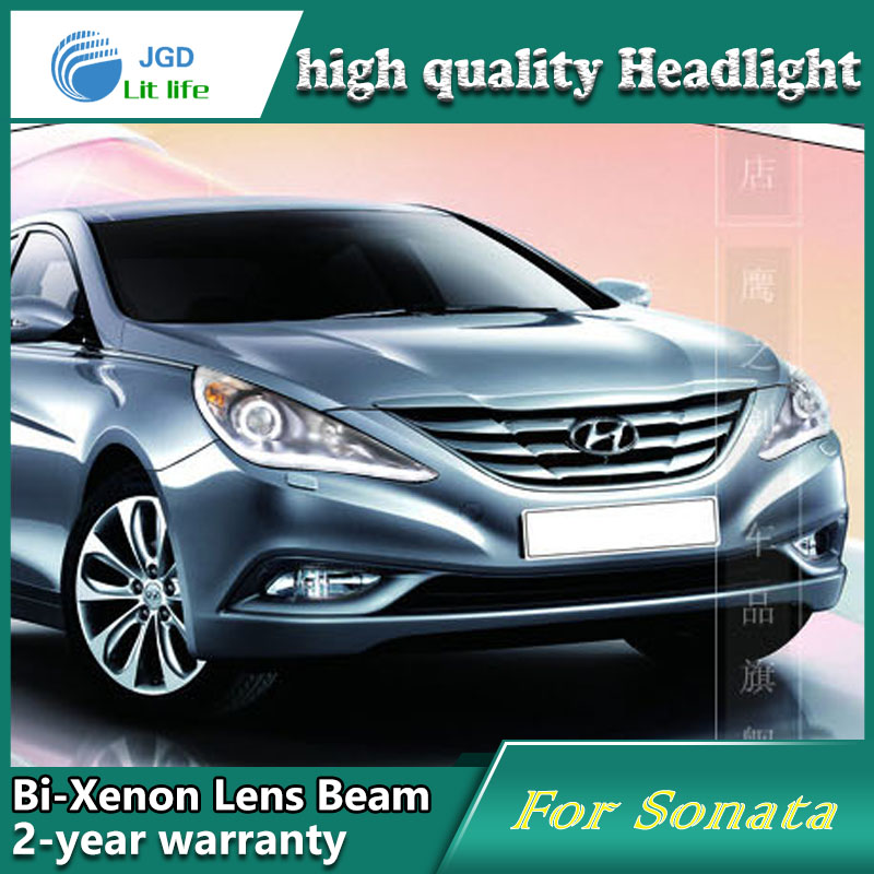 Car Styling Head Lamp case for Hyundai Sonata 2008-2011 Headlights LED Headlight DRL Lens Double Beam Bi-Xenon HID Accessories new headlight headlamp left right for hyundai sonata 8 head led light bar drl 2011 2015 h7 bi xenon