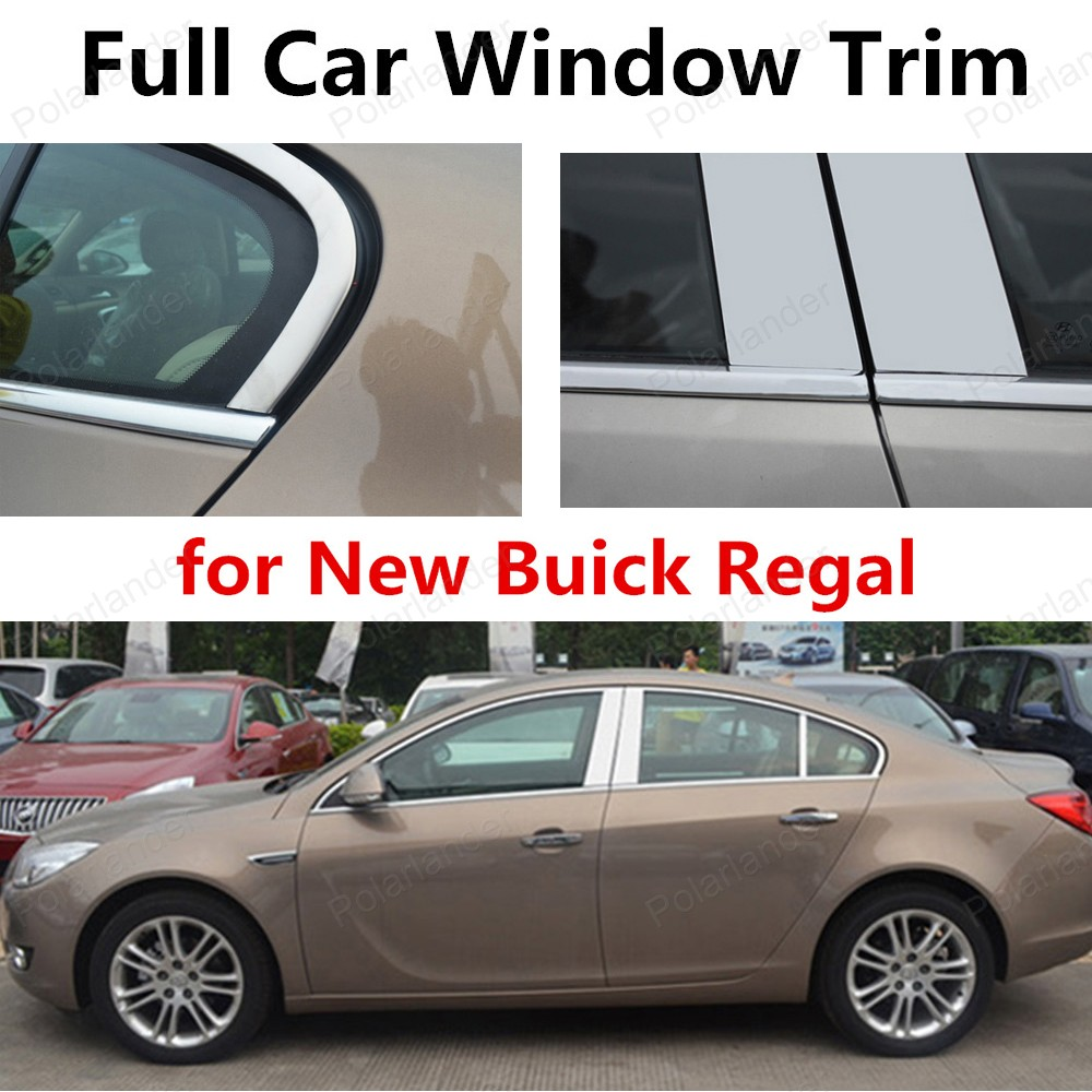 hot sell For new Buick Regal Car Styling Accessory Stainless Steel decorative full Window Trim