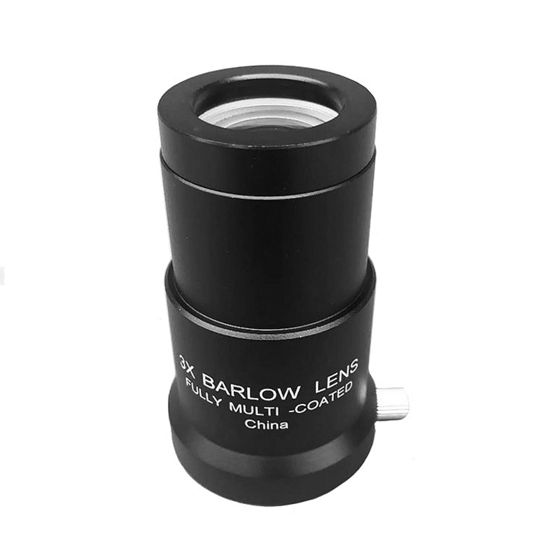 KINGOPT 1.25inch 3X Barlow Optical Glass Lens Aluminium Alloy Frame FMC Coating for Astronomical Telescope Eyepiece Accessories