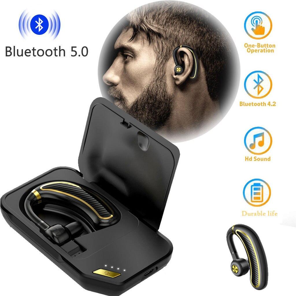 Aufrichtig Hiperdeal Bluetooth Headset V5.0 Hände Frei Ohrhörer W/mic Wireless Ohrhörer Auto Kopfhörer Hallo-fi Sound Qualität 56 # Einfach Zu Schmieren