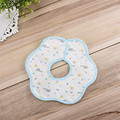 Soft Baby Saliva Towel Infant Lunch Bib Cotton for Newborn Toddler Kids 3-18M Friendly To Skin Flower