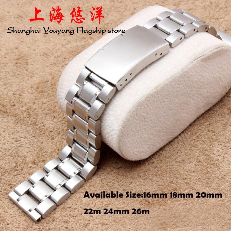 Horlogeband Dames 16mm 18mm 20mm 22mm 24mm 26mm Zilver roestvrij - Horloge accessoires