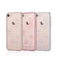 100 Original Comma Crystal Flora 360 Swarovski Element Ultra Thin Protective Case For IPhone 7 7