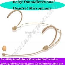 MICWL New Comfortable Headset Head worn Microphone for Sennheiser AKG Shure Audio-Technica Wireless Mic Bodypack etc.