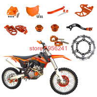 Front Brake Disc+Footrest Pegs+Water Pump Cover+Rear Brake Pedal Lever Etc Spare Parts For KTM 250 SXF SX F EXC F XCF XC F XCF W