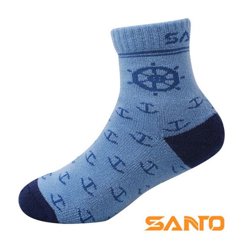 Детские спортивные носки (2 пар/лот) SANTO S073/S074, теплые, 50% шерсть мериноса, детские носки, носки для пешего туризма на открытом воздухе