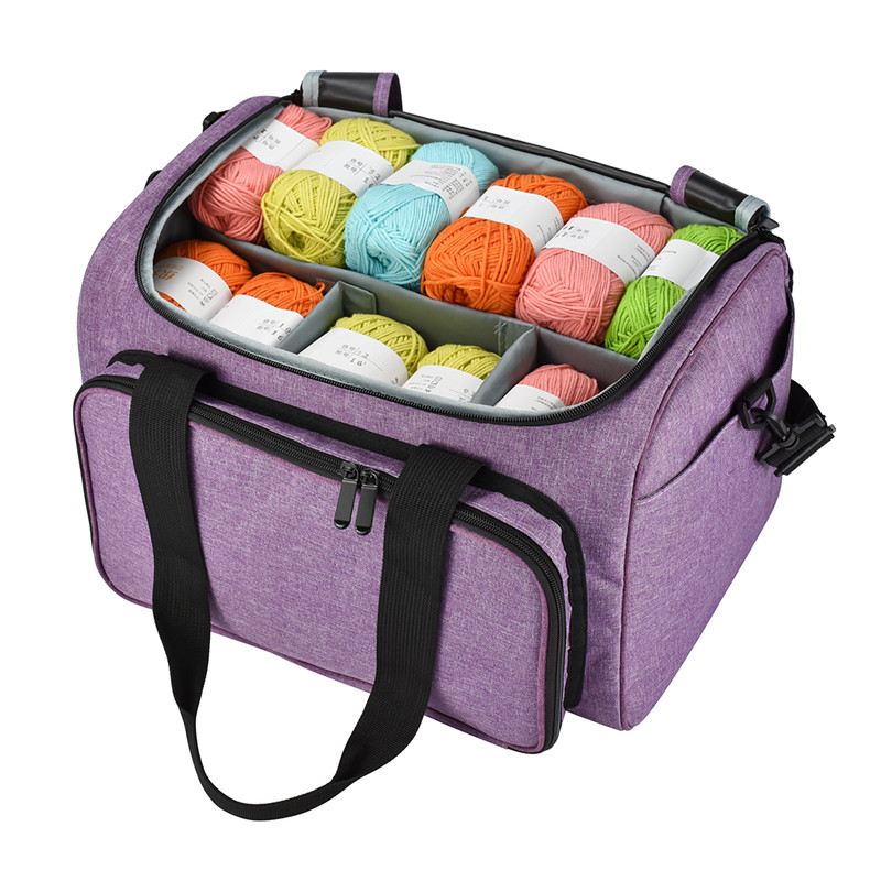 DIY Yarn Knitting Storage Bag Household Crochet Hook Thread Yarn Wool Organizer Case Sewing Kit Case DIY Yarn Travel Bag For Mom