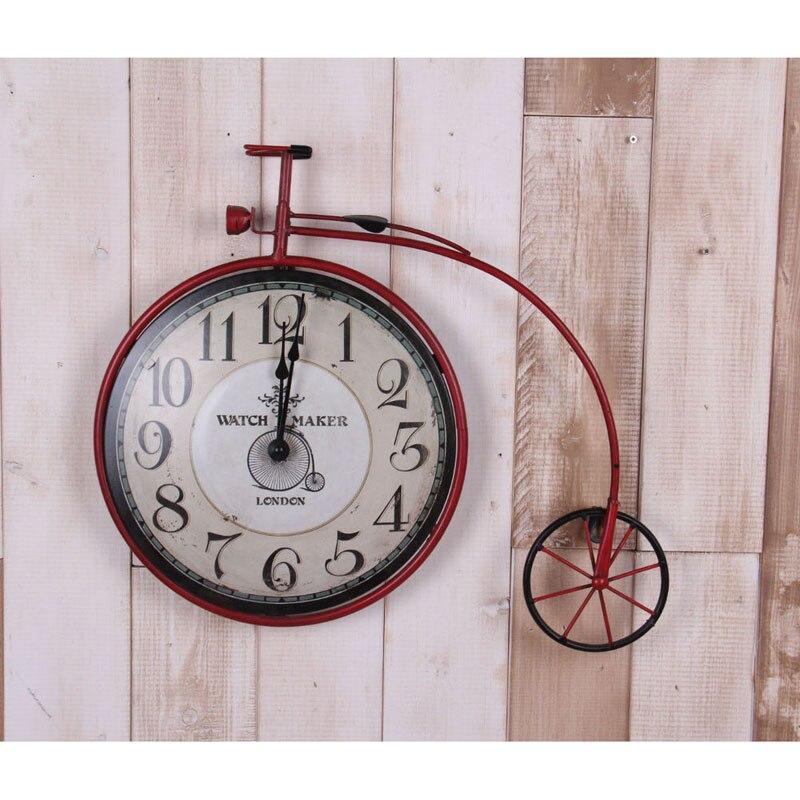 469771d3970 Relógio de parede Murale Horloge Duvar Saati Saat Relógio Reloj Relogio  Orologio da parete lâmpada de decoração Para Casa de Bicicleta tipo de  parede ferro ...