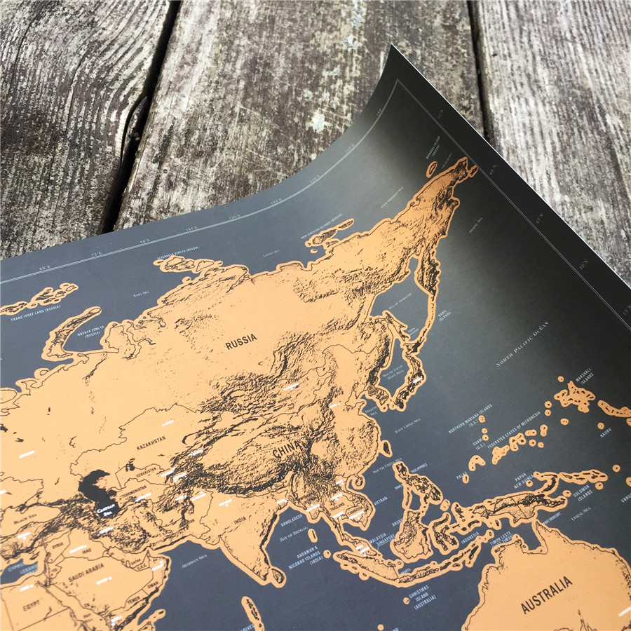 Hot sale travel map personalized scratch off foil layer coating hot sale travel map personalized scratch off foil layer coating poster bar pub cafe wall painting wall sticker world maps in wall stickers from home gumiabroncs Image collections