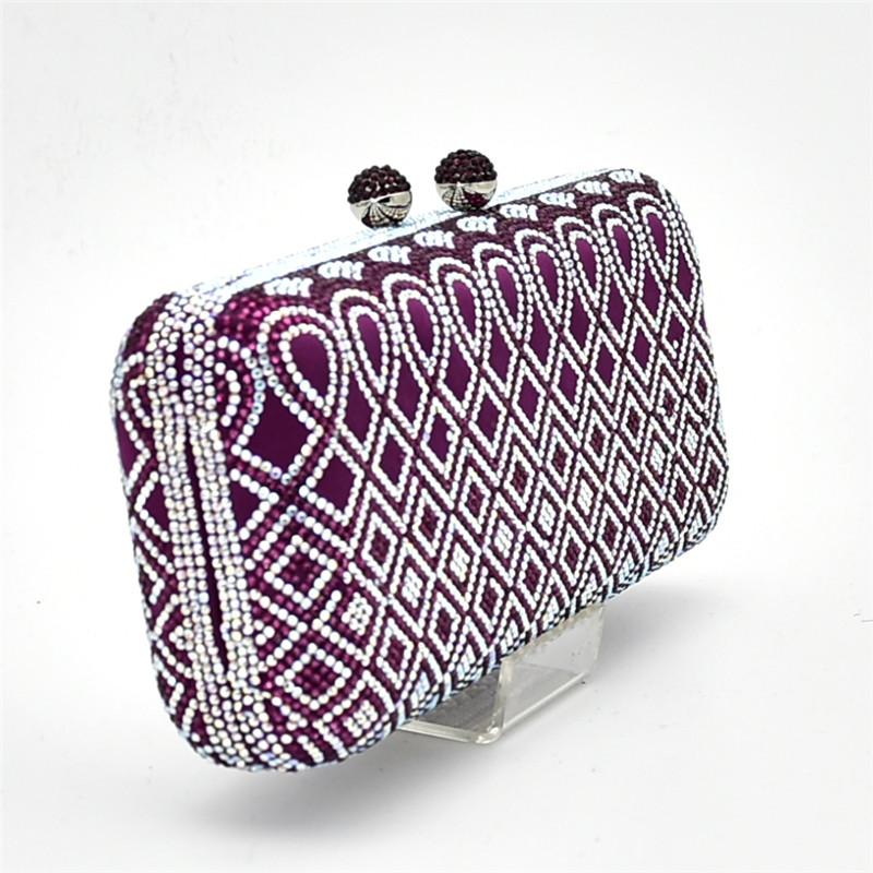Rhinestone Italian Shoe and Bag Set for Women