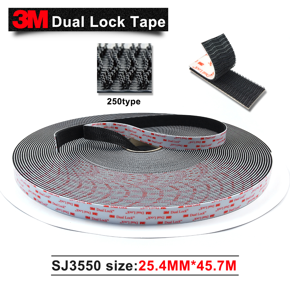 3M Original Product SJ3550 dual lock Acrylic 3M tape double sided adhesive acrylic tape black 2in*50yards 2roll/carton стоимость