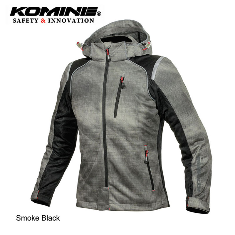 KOMINE Japanese Original Men Motorcycle Jacket Motocross Jacket Breathable Anti fall Moto Jacket Protective Gear Armor Jacket in Jackets from Automobiles Motorcycles