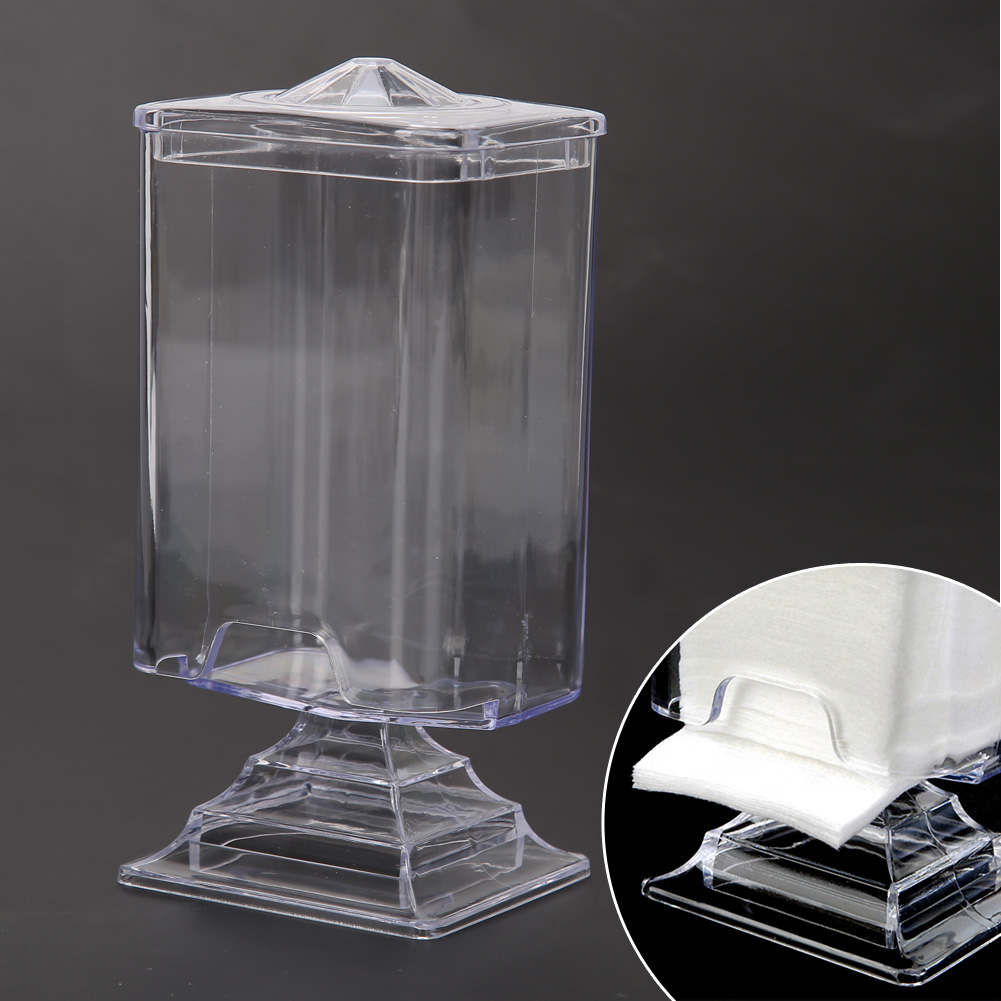 Transparent Container Storage Case Makeup Cotton Pad Box Nail Art Remover Paper Wipe Plastic Storage Box купить
