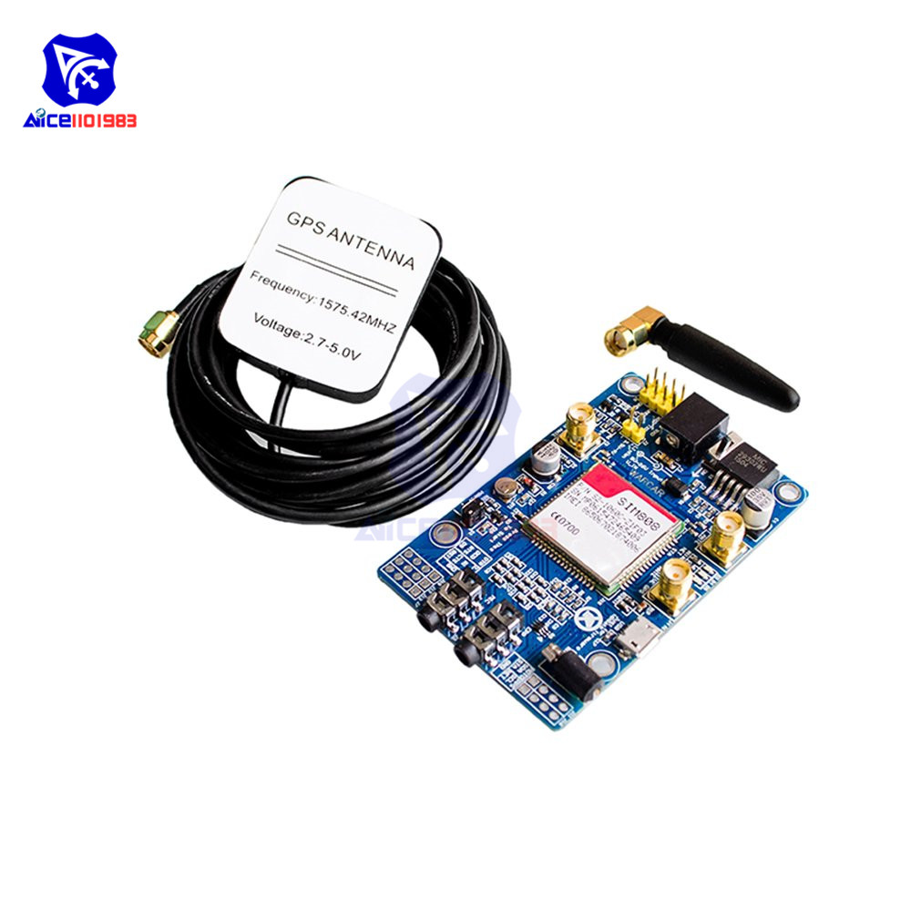 SIM808 Module GSM GPRS GPS Development Board with IPX SMA GSM GPS Antenna Support 2G Network for Arduino Raspberry PiSIM808 Module GSM GPRS GPS Development Board with IPX SMA GSM GPS Antenna Support 2G Network for Arduino Raspberry Pi