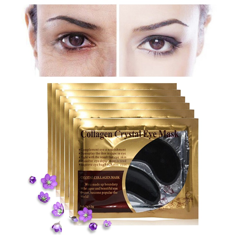 30pcs=15pair Gold Crystal Collagen Eye Mask Eyelid Eye Patches Under Eyes Mask 24K Golden Masks Dark Circles Removal Puffiness 3