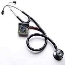 デュアルヘッド stethophone ステンレス心臓聴診器医療クリニック医師 echometer 大人と子供のため + 耳栓アクセサリー