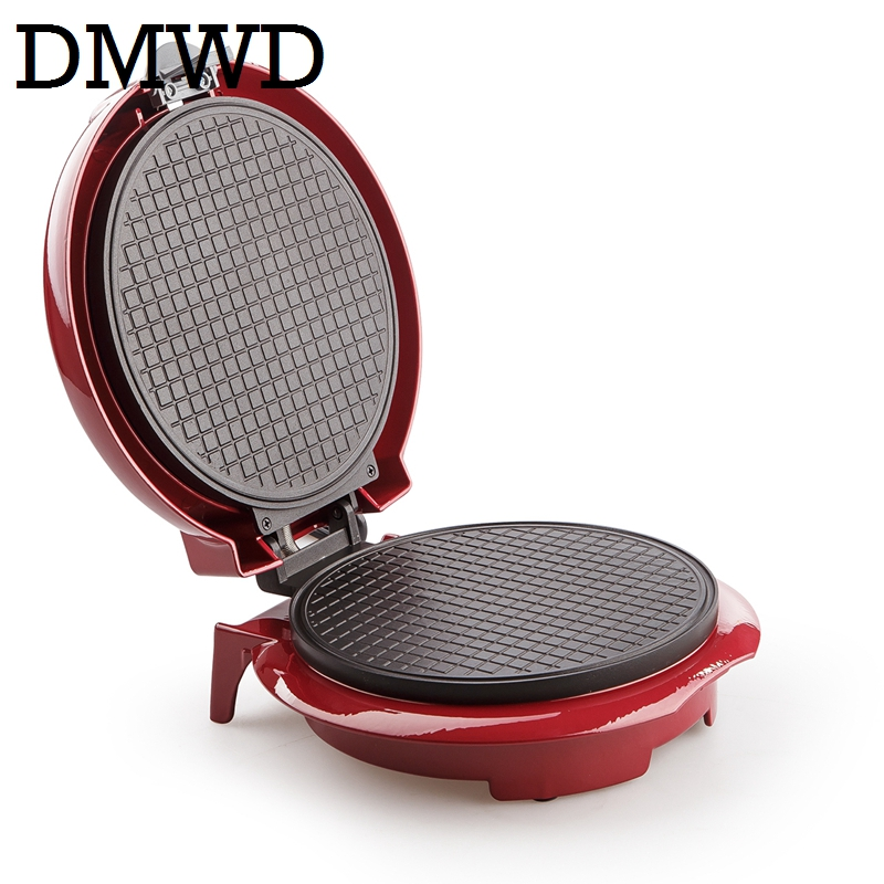 DMWD Electric Egg Roll Maker Crispy Omelet Mold crepe baking Pan Waffle Pancake Bakeware ice cream cone machine pie frying grill double pan fried ice roll pan machine stainless steel 45cm pan fried frying ice cream machine with salad fruit workbench 10pcs