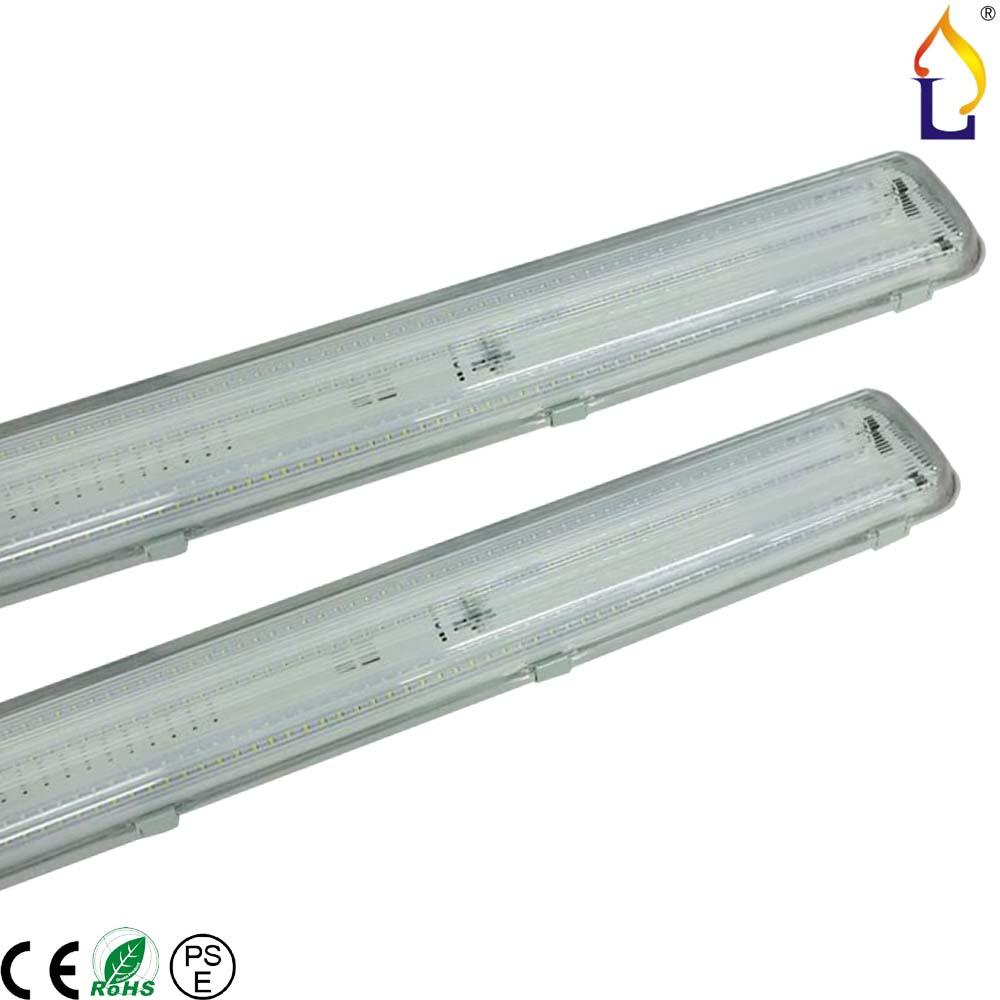 ФОТО Led Tri-proof Light 4pcs/lot IP65 led waterproof Tube Light Warehouse Batten light 38W 2ft/78W 4ft/96W 5ft SMD2835 AC85-265V