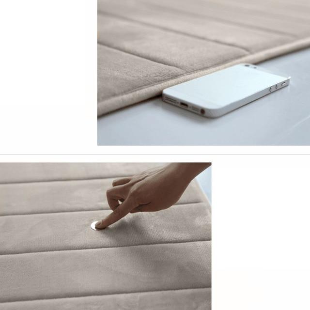 Morbido di Corallo Cotone di Memoria Non-Scivolare di Nuovo Tappetini Anti-slip Bagno Tappeto Bagno di Sicurezza Zerbino comfy touch 40*60 cm