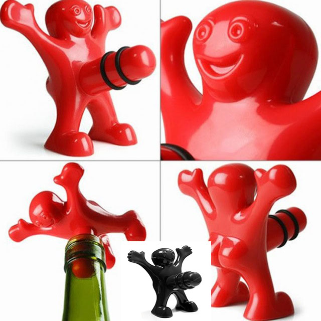 1pc Newest Funny Happy Man Guy Wine Stopper Novelty Bar Tools Wine Cork Bottle Plug Perky Interesting Gifts