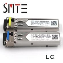 1 זוג 1.25G BiDi SFP TX1490nm/RX1310nm TX1310nm/RX1490nm LC תואם FTM 9912C SL10G משדר מודול SFP עבור OTDR