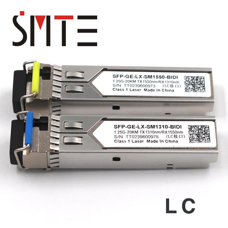1 paire 1.25G BiDi SFP TX1490nm/RX1310nm TX1310nm/RX1490nm LC compatible émetteur-récepteur FTM-9912C-SL10G module SFP pour OTDR