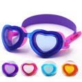 Hot Sale Durable Heart Shape Design Silicone Anti Fog Magic Belt Colorful Children Swimming Goggles 5 Color Free Shipping