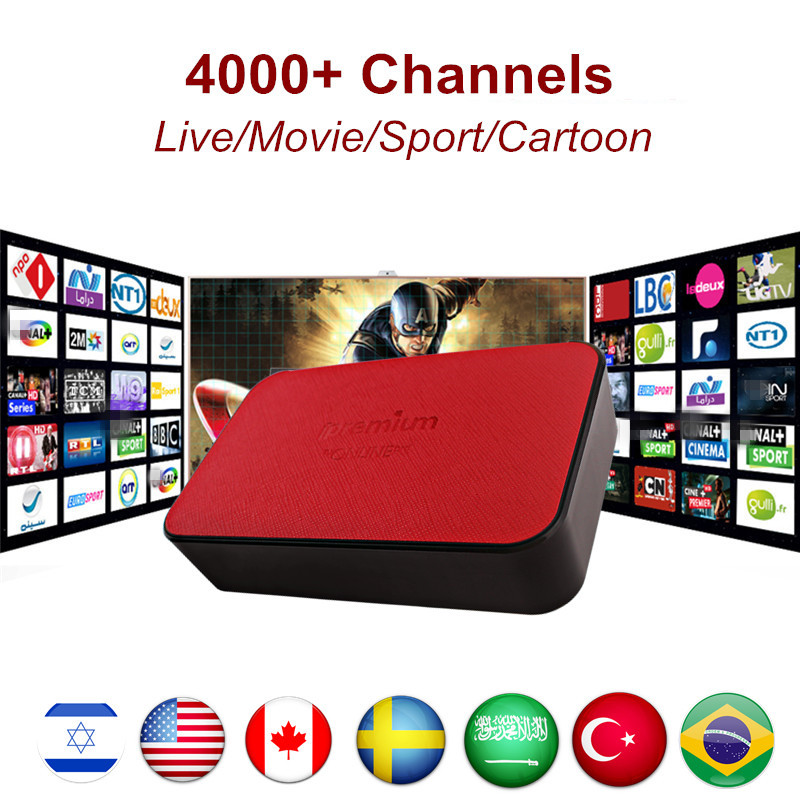 Ipremium AVOV TVonline Smart TV Box with Israel Israeli Hebrew IPTV 4800+Live Channels&Vod Free for 1 year 4K H.265 Media Player avov android iptv box dvb s2 satellite receiver with airmouse wireless keyboard 2 4g backlit fly mouse mini i8 ipremium i7