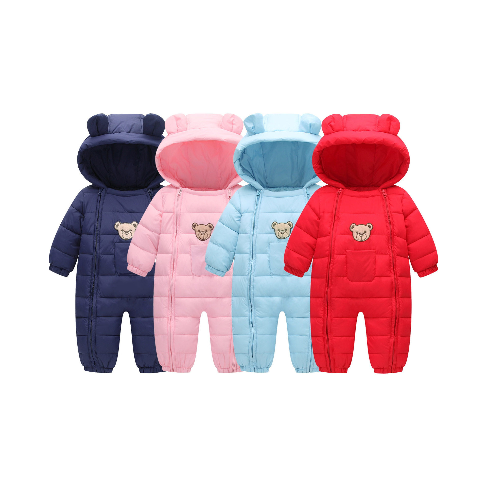 2018 New Baby Down Cotton Rompers Children Winter Warm Infant Snowsuit Kid Jumpsuit Boys Costume mioigee 2017 new down baby rompers winter outdoor boy costume girls warm infant snowsuit kid jumpsuit children romper clothing