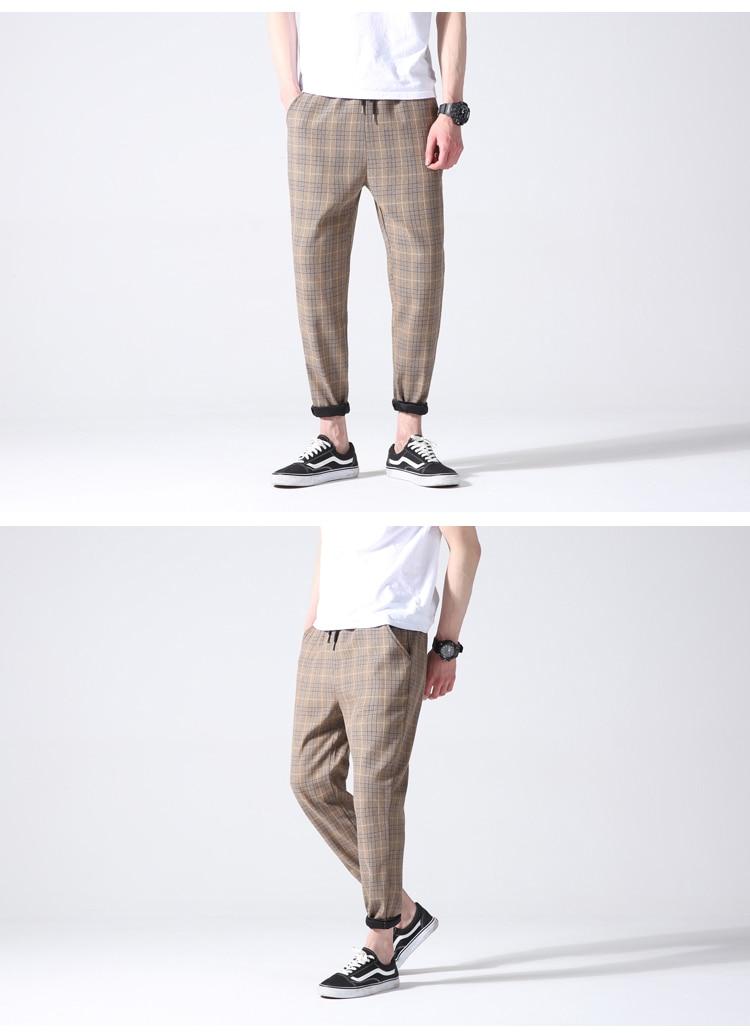Plaid Casual Pants
