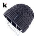 2018 Males's Skullies Hat Bonnet Winter Beanie Knitted Wool Hat Plus Velvet Cap Thicker Stripe Skis Sports activities Beanies Hats for males HTB1d 02zLuSBuNkHFqDq6xfhVXaZ