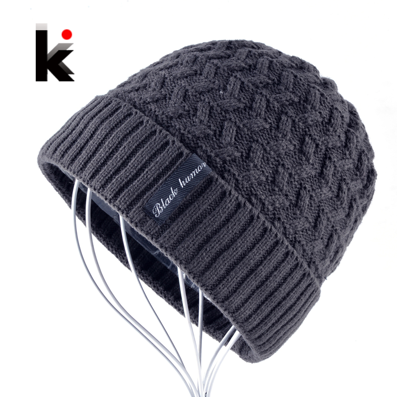 Winter Knitted Hat Men   Skullies     Beanie   Knitting Wool Hats For Boys   Beanies   Bonnet Casual Warm Gorro Touca Masculina Inverno