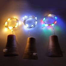 10/20 LED Solar Wine Bottle Cork Shaped String Lights Night Fairy Christmas Fairy Light Outdoor Garland Strings