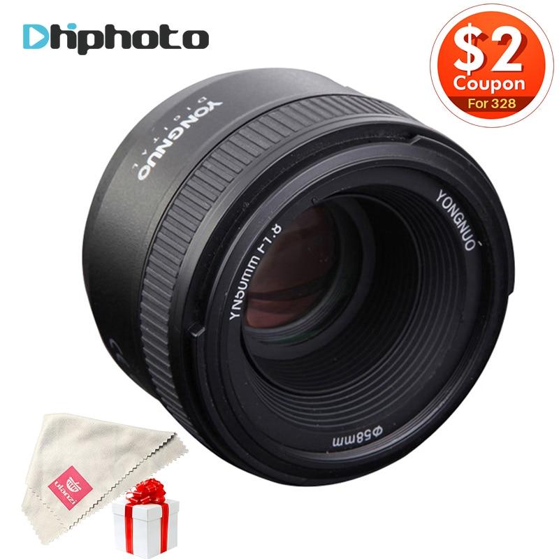 YONGNUO YN50MM F1.8 Grande Apertura Auto Focus Lens full frame come AF-S 50mm f1.8 per Nikon D5300 D3300 D5100 D750 Fotocamera DSLR