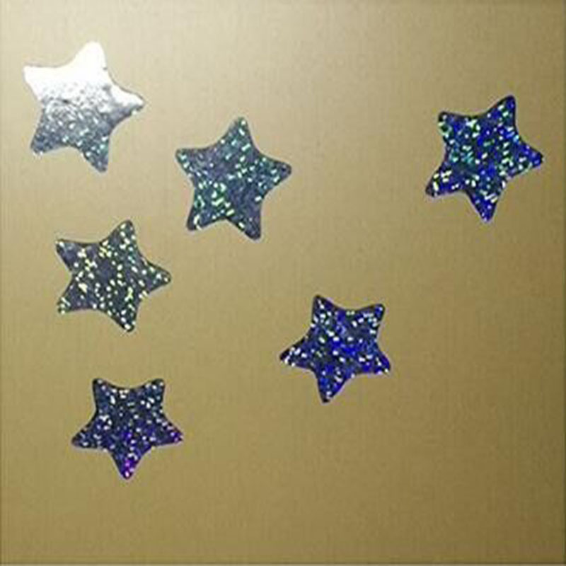 Home Improvement Grid Laser Glitter Star Shape Stickers Self-adhesive Sticker Label Shiny Metallic Foil Label For Teacher Supplies