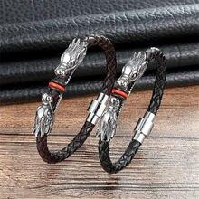 Высокое качество модные плетеные кожаные браслеты для женщин