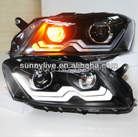 For VW Magotan Passat B7 LED Head Lamp 2012-13 year European Version With D2H hid KIT