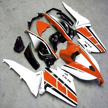Custom MAX 500 2012-2014 motorcycle body kit for MAX500 2012 2013 2014 year ABS Fairing+Botls+Injection mold orange white