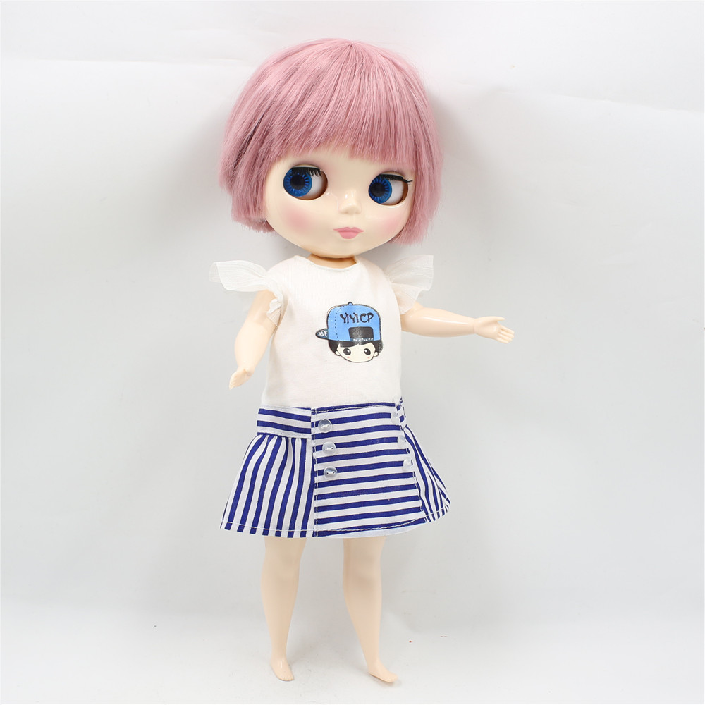 Neo Blythe Plump Doll with Pink Hair, White Skin, Shiny Face & Fat Body 4