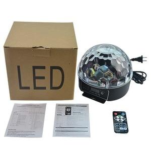 Image 5 - Atotalof DMX etap światła kryształ magiczna kula dyskotekowa RGB lampa sceniczna LED kontrola dźwięku DMX512 oświetlenie na imprezę dla KTV klub Bar ślub