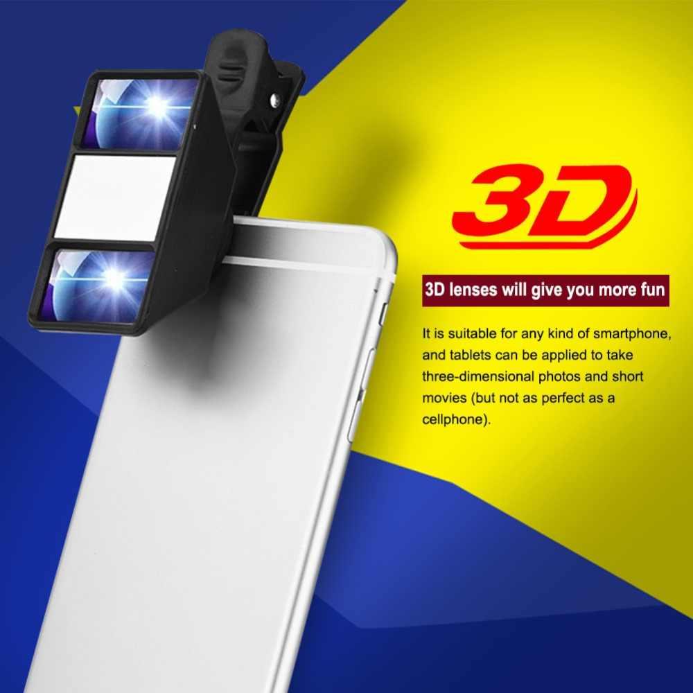 3D линзы ограниченного видения телефон стереоскопический объектив камеры для iPhone samsung Xiaomi универсальный внешний мини объектив для мобильного телефона клип