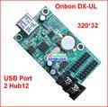 Onbon DX-UL, управления usb порт размер 320*32, поддержка 2 HUB12, дешевый монохромный, один цвет p10 светодиодные панели управления