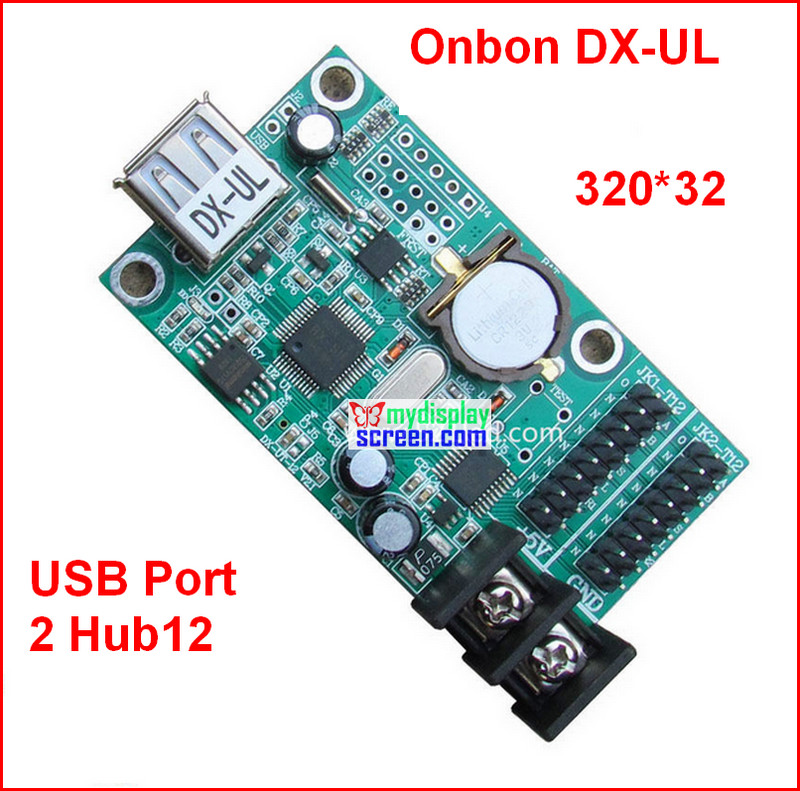 onbon DX-UL, usb port control size 320*32,support 2 HUB12,cheapest monochrome,one color p10 led panel controlonbon DX-UL, usb port control size 320*32,support 2 HUB12,cheapest monochrome,one color p10 led panel control