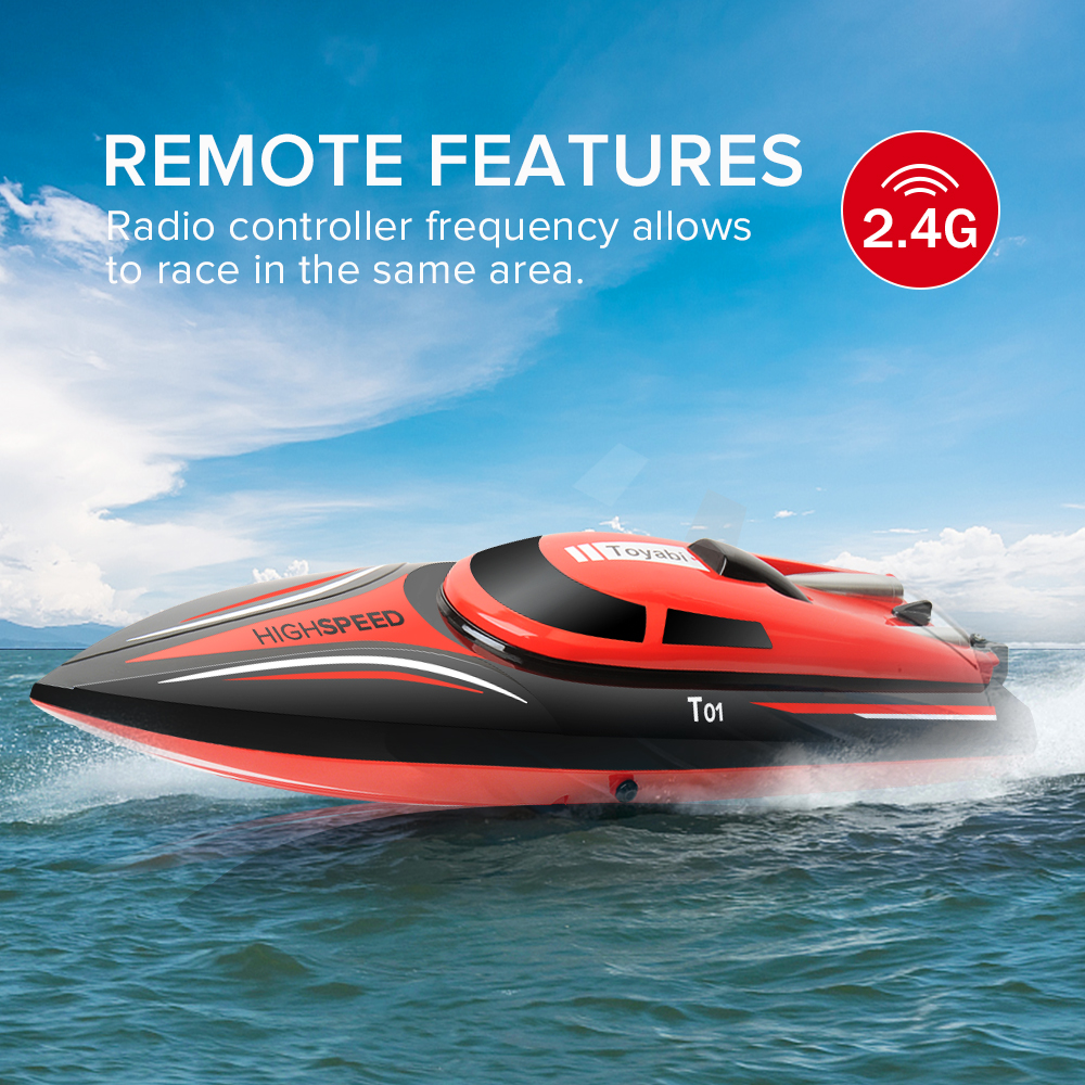 GizmoVine High Speed RC Boat H101 2.4GHz 4 Channel 30km/h Racing Remote Control Boat with LCD Screen as gift For children Toys extra spare h101 008 upper body shell for floureon h101 remote control quadcopter