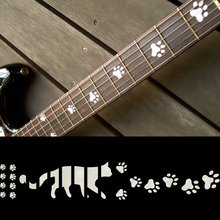 Fretboard Markers Inlay Sticker Decals for Guitar – Cats Foot Print – WP