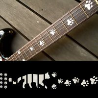 Fretboard Markers Inlay Sticker Decals for Guitar Cats Foot Print WP