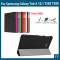 Высокое качество Смарт Флип CaseFor Samsung Galaxy Tab 10.1 2016 T585 T580 SM-T580 T580N чехол + Подарок + Протектор Экрана